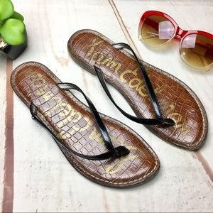 Sam Edelman Gracie Patent Leather Flip Flop Sandal